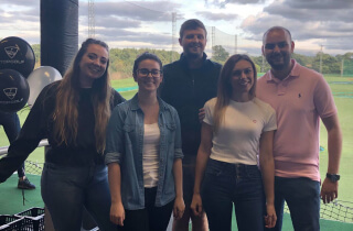 Team building at TopGolf in Chigwell, Essex