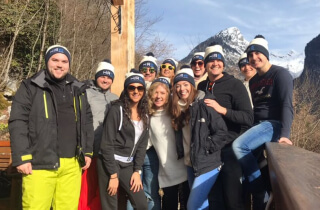 HRS Team on a ski trip to Geneva, France